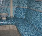 Mosaik Bank Dampfbad steam bath bench mosaic therme bad rodach fire Ice Wellness IMG 9837